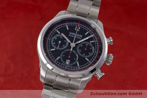 Used luxury watch Union Glashütte Belisar chronograph steel automatic Kal. UNG-2701 Ref. D009.427.A  | 161408 04