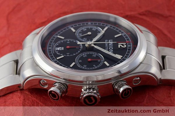Used luxury watch Union Glashütte Belisar chronograph steel automatic Kal. UNG-2701 Ref. D009.427.A  | 161408 05