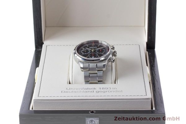 Used luxury watch Union Glashütte Belisar chronograph steel automatic Kal. UNG-2701 Ref. D009.427.A  | 161408 07