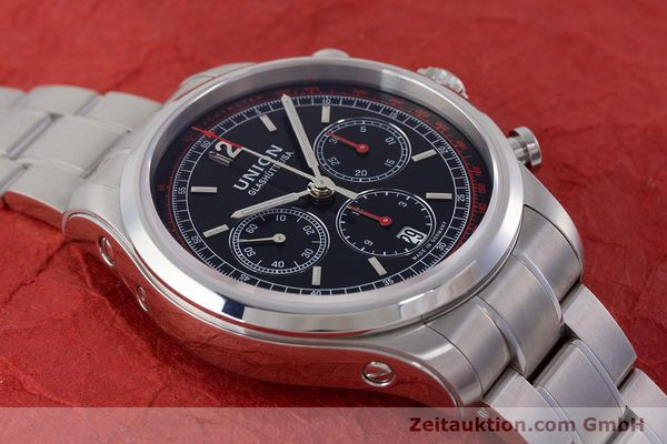 Used luxury watch Union Glashütte Belisar chronograph steel automatic Kal. UNG-2701 Ref. D009.427.A  | 161408 15