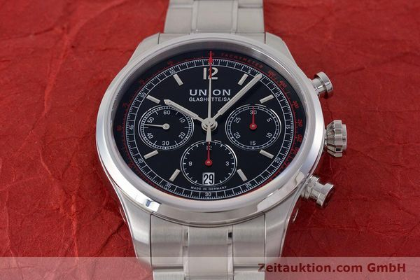 Used luxury watch Union Glashütte Belisar chronograph steel automatic Kal. UNG-2701 Ref. D009.427.A  | 161408 16