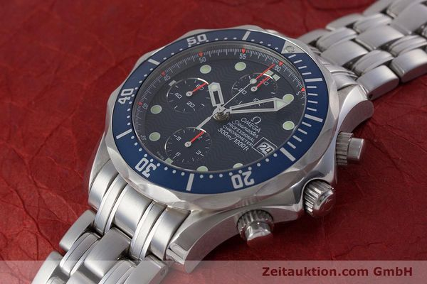Used luxury watch Omega Seamaster chronograph steel automatic Kal. 1164  | 161412 01