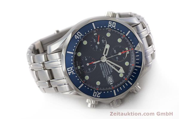 Used luxury watch Omega Seamaster chronograph steel automatic Kal. 1164  | 161412 03