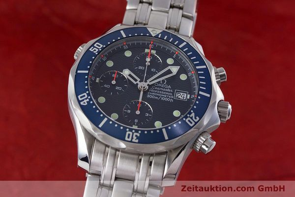 Used luxury watch Omega Seamaster chronograph steel automatic Kal. 1164  | 161412 04