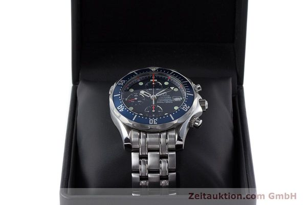 Used luxury watch Omega Seamaster chronograph steel automatic Kal. 1164  | 161412 07