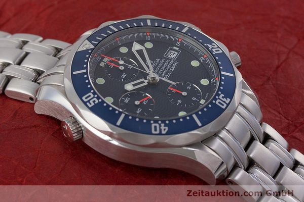 Used luxury watch Omega Seamaster chronograph steel automatic Kal. 1164  | 161412 16
