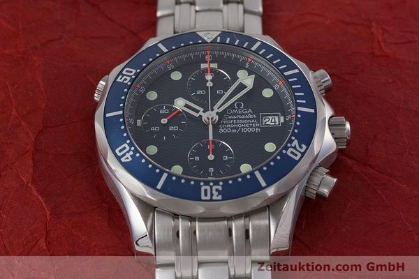 Used luxury watch Omega Seamaster chronograph steel automatic Kal. 1164  | 161412 17