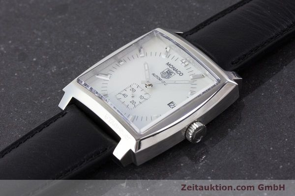 Used luxury watch Tag Heuer Monaco steel automatic Kal. 6 ETA 2895-2 Ref. WW2112  | 161416 01