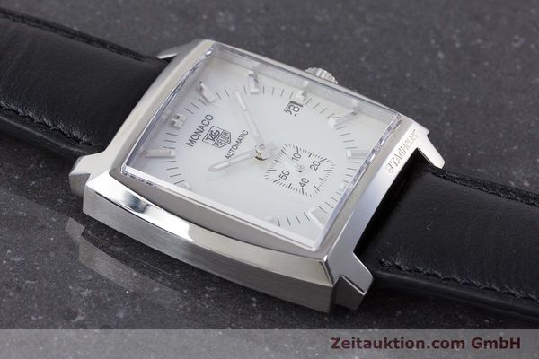 Used luxury watch Tag Heuer Monaco steel automatic Kal. 6 ETA 2895-2 Ref. WW2112  | 161416 15