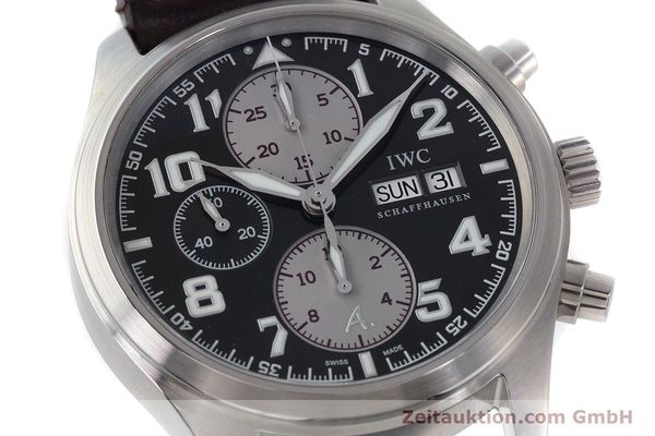 Used luxury watch IWC Fliegeruhr chronograph steel automatic Kal. 79320 Ref. 3717 LIMITED EDITION | 161419 02