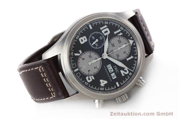 Used luxury watch IWC Fliegeruhr chronograph steel automatic Kal. 79320 Ref. 3717 LIMITED EDITION | 161419 03