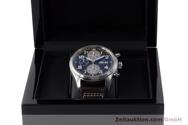 Used luxury watch IWC Fliegeruhr chronograph steel automatic Kal. 79320 Ref. 3717 LIMITED EDITION | 161419 07