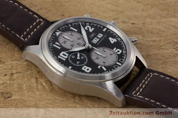 Used luxury watch IWC Fliegeruhr chronograph steel automatic Kal. 79320 Ref. 3717 LIMITED EDITION | 161419 15