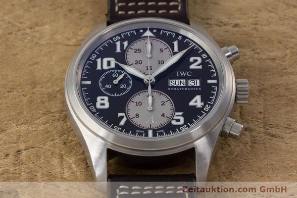 Used luxury watch IWC Fliegeruhr chronograph steel automatic Kal. 79320 Ref. 3717 LIMITED EDITION | 161419 16