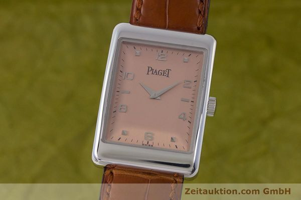 PIAGET 18K (0,750) WEISS GOLD HANDAUFZUG HERRENUHR MEDIUM REF 9952 VP: 16400,- Euro [161422]