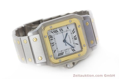 CARTIER SANTOS ACIER / OR AUTOMATIQUE KAL. ETA 2671 LP: 7100EUR [161426]