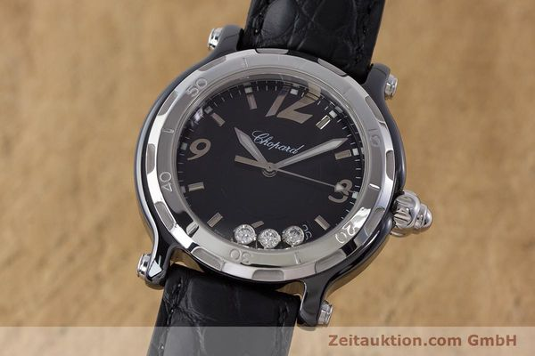 CHOPARD HAPPY SPORT CERAMIC / TITANIUM QUARTZ KAL. ETA 955.112 LP: 5380EUR [161435]
