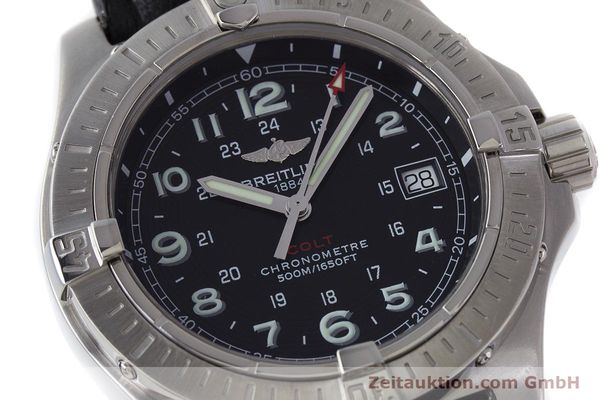Used luxury watch Breitling Colt steel quartz Kal. B74 ETA 955652 Ref. A74380  | 161438 02