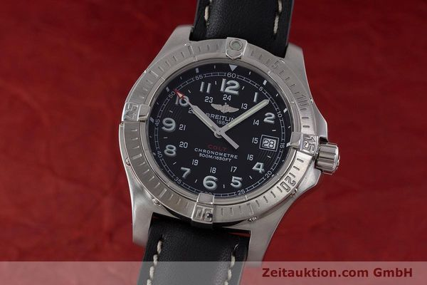 Used luxury watch Breitling Colt steel quartz Kal. B74 ETA 955652 Ref. A74380  | 161438 04