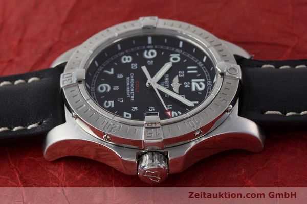 Used luxury watch Breitling Colt steel quartz Kal. B74 ETA 955652 Ref. A74380  | 161438 05