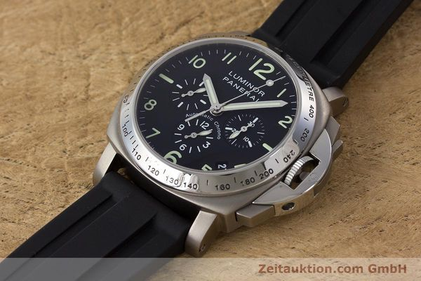 Used luxury watch Panerai Luminor  chronograph titanium automatic Kal. OP IV 4002 Ref. OP6531 LIMITED EDITION | 161440 01