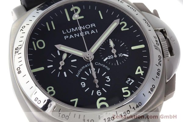 Used luxury watch Panerai Luminor  chronograph titanium automatic Kal. OP IV 4002 Ref. OP6531 LIMITED EDITION | 161440 02