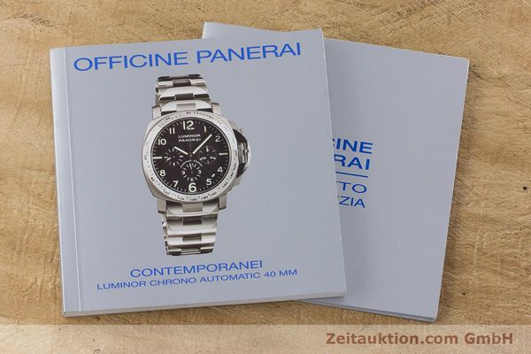 Used luxury watch Panerai Luminor  chronograph titanium automatic Kal. OP IV 4002 Ref. OP6531 LIMITED EDITION | 161440 12