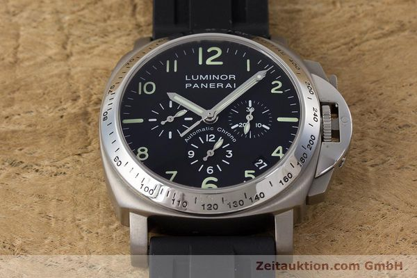 Used luxury watch Panerai Luminor  chronograph titanium automatic Kal. OP IV 4002 Ref. OP6531 LIMITED EDITION | 161440 16