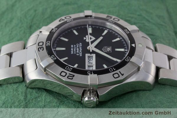 Used luxury watch Tag Heuer Aquaracer steel automatic Kal. 5 ETA 2836-2 Ref. WAF2013  | 161457 05