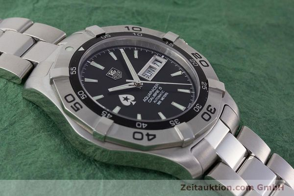 Used luxury watch Tag Heuer Aquaracer steel automatic Kal. 5 ETA 2836-2 Ref. WAF2013  | 161457 15