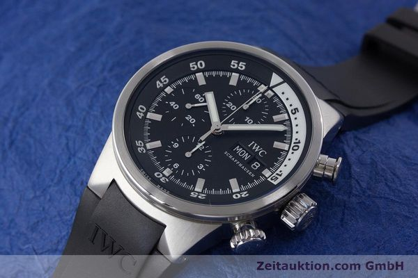 Used luxury watch IWC Aquatimer chronograph steel automatic Kal. 79320 Ref. 3719  | 161458 01