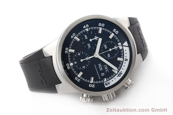 Used luxury watch IWC Aquatimer chronograph steel automatic Kal. 79320 Ref. 3719  | 161458 03