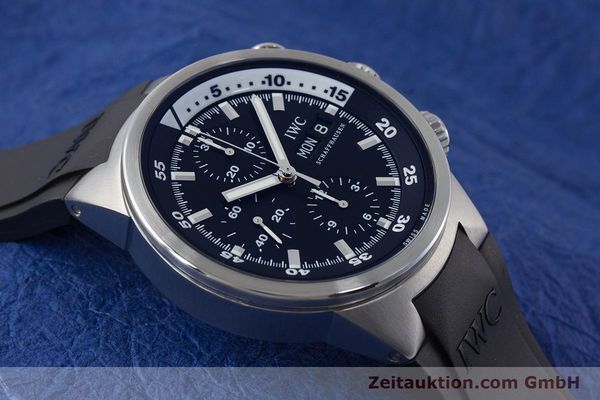 Used luxury watch IWC Aquatimer chronograph steel automatic Kal. 79320 Ref. 3719  | 161458 15