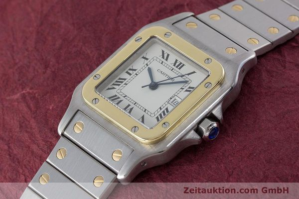 Used luxury watch Cartier Santos steel / gold automatic Kal. ETA 2671  | 161459 01