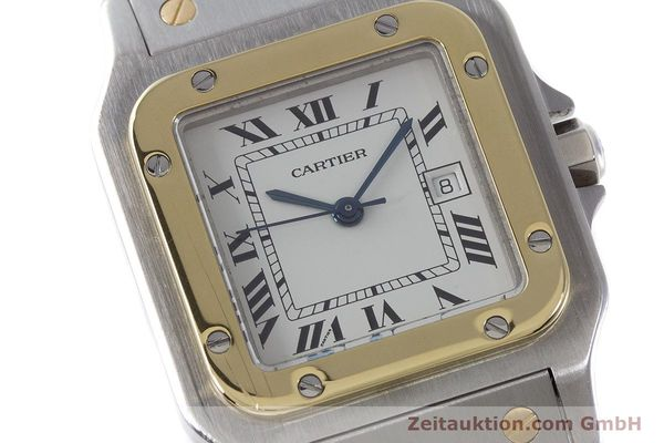 Used luxury watch Cartier Santos steel / gold automatic Kal. ETA 2671  | 161459 02