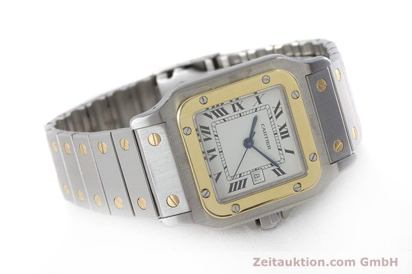 Used luxury watch Cartier Santos steel / gold automatic Kal. ETA 2671  | 161459 03