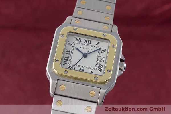 Used luxury watch Cartier Santos steel / gold automatic Kal. ETA 2671  | 161459 04