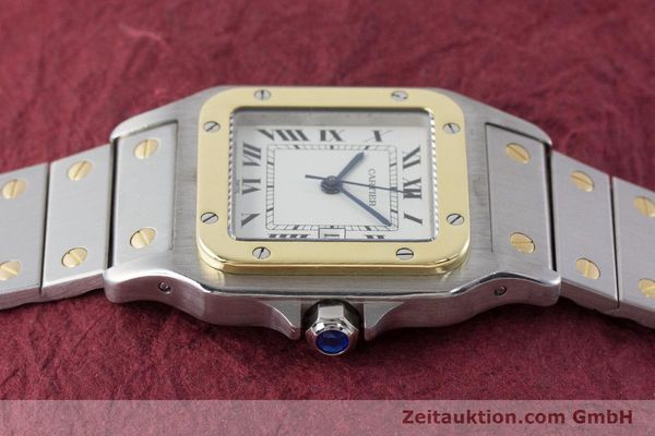 Used luxury watch Cartier Santos steel / gold automatic Kal. ETA 2671  | 161459 05