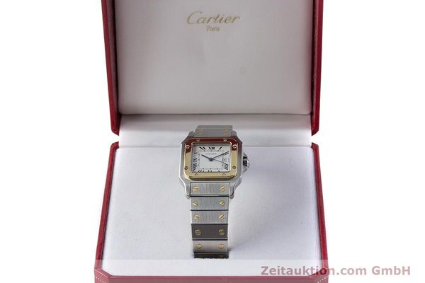 Used luxury watch Cartier Santos steel / gold automatic Kal. ETA 2671  | 161459 07