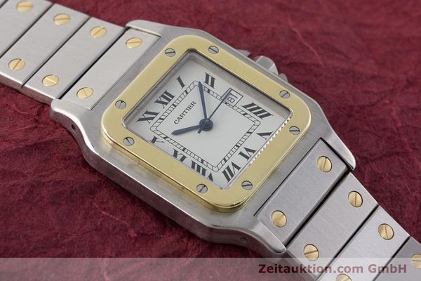 Used luxury watch Cartier Santos steel / gold automatic Kal. ETA 2671  | 161459 12