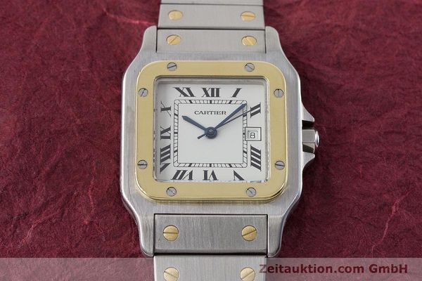 Used luxury watch Cartier Santos steel / gold automatic Kal. ETA 2671  | 161459 13