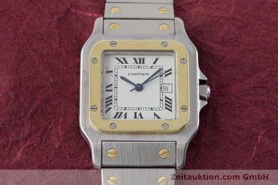 CARTIER SANTOS ACIER / OR AUTOMATIQUE KAL. ETA 2671 LP: 7100EUR [161459]
