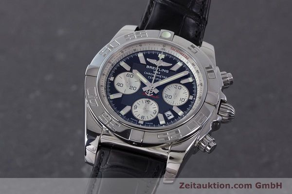 Used luxury watch Breitling Chronomat 44 chronograph steel automatic Kal. B 01 Ref. AB0110  | 161462 04