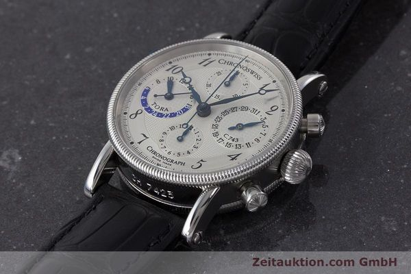 Used luxury watch Chronoswiss Tora chronograph steel automatic Kal. C.743 Ref. CH7423  | 161468 01
