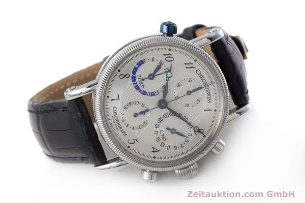 Used luxury watch Chronoswiss Tora chronograph steel automatic Kal. C.743 Ref. CH7423  | 161468 03