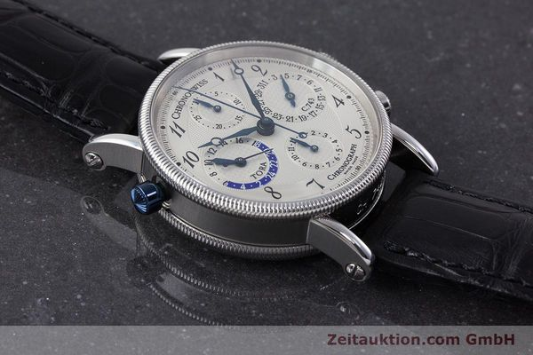 Used luxury watch Chronoswiss Tora chronograph steel automatic Kal. C.743 Ref. CH7423  | 161468 15