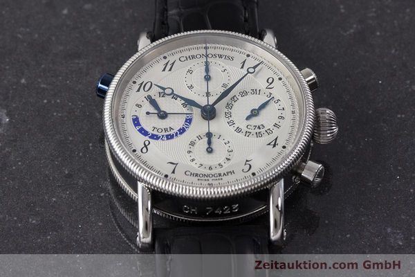 Used luxury watch Chronoswiss Tora chronograph steel automatic Kal. C.743 Ref. CH7423  | 161468 16