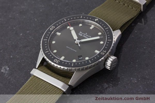 Used luxury watch Blancpain Fifty Fathoms steel automatic Kal. 1315 Ref. 5000-1110-NAKA  | 161472 01