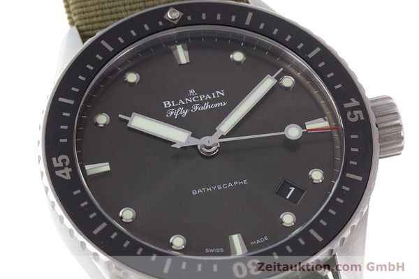 Used luxury watch Blancpain Fifty Fathoms steel automatic Kal. 1315 Ref. 5000-1110-NAKA  | 161472 02