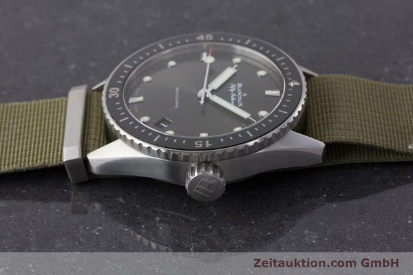 Used luxury watch Blancpain Fifty Fathoms steel automatic Kal. 1315 Ref. 5000-1110-NAKA  | 161472 05